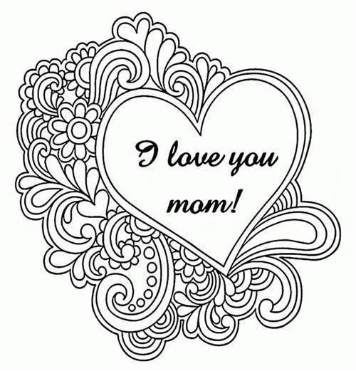 happy mothers day coloring pages  happy mothers day