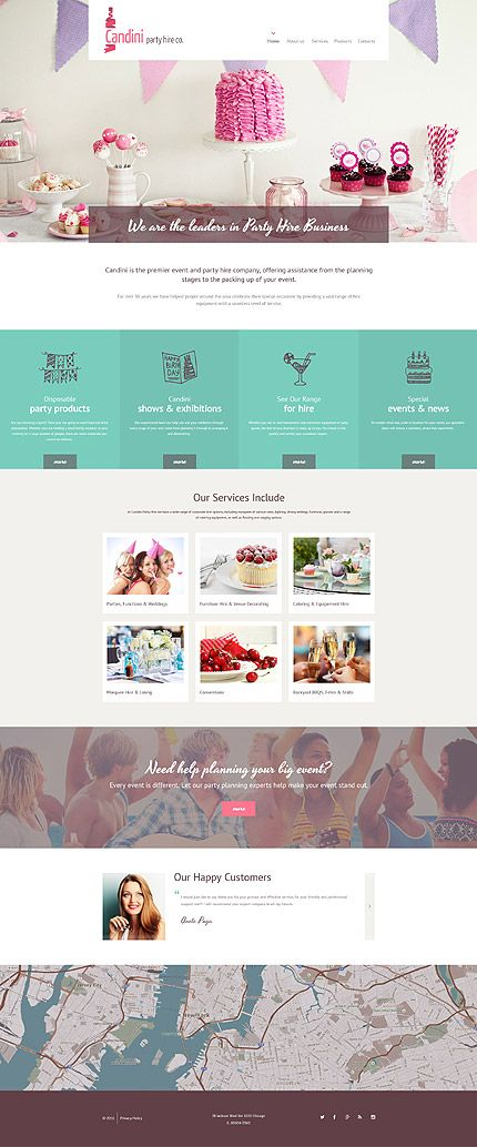 party website templates