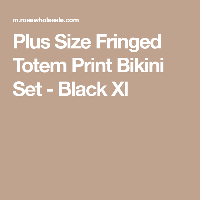16c7c130e3 Plus Size Totem Print Tassel Bikini Set - Black Xl | shopping ...