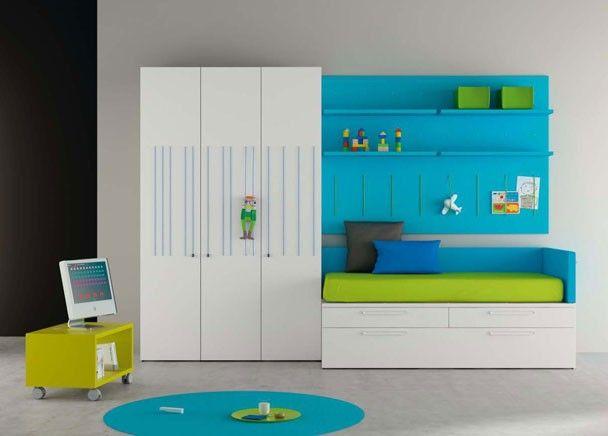 Habitaci n infantil original con armario elastic habitaciones infantiles pinterest - Armarios infantiles originales ...