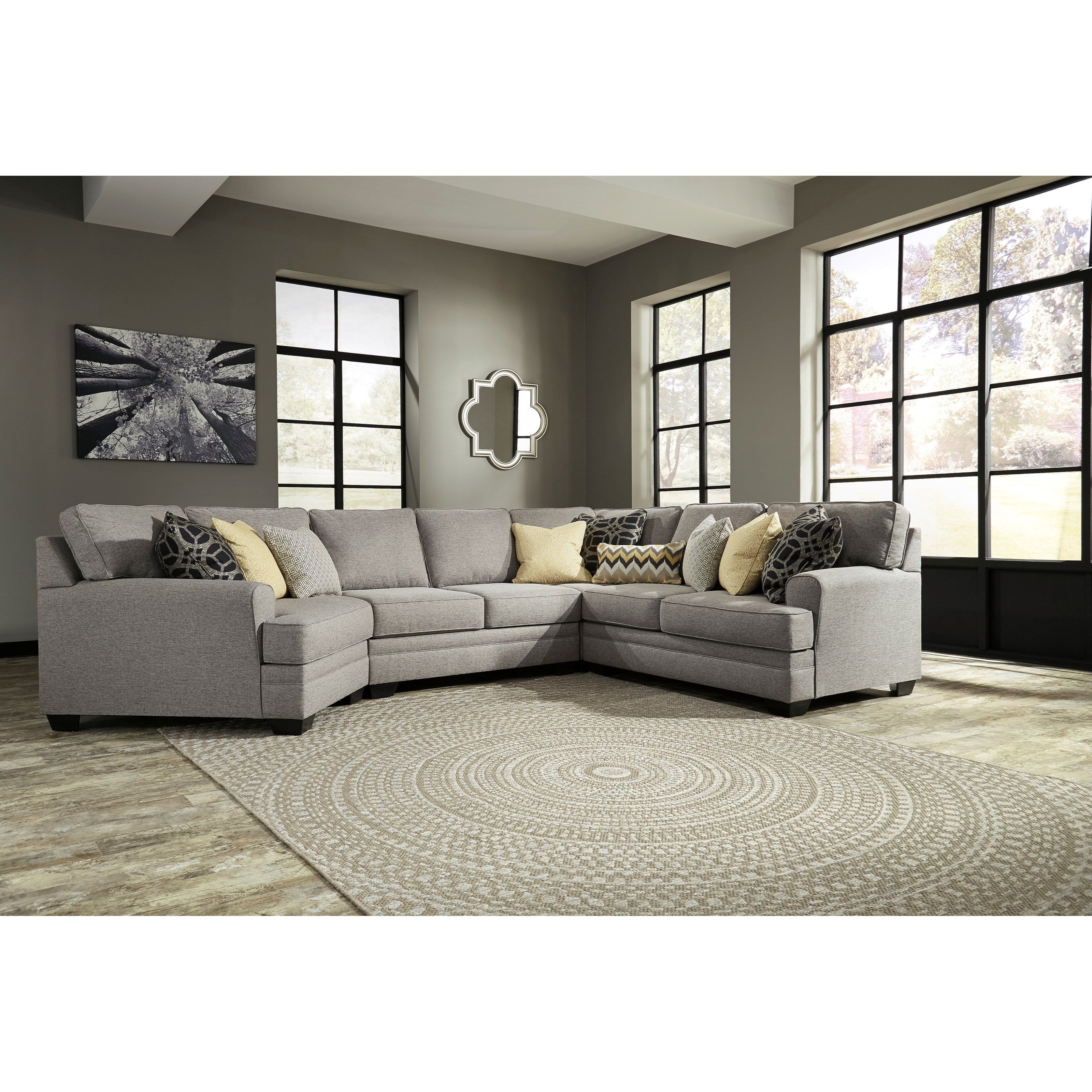 Cresson 4 Piece Sectional with Cuddler by Benchcraft