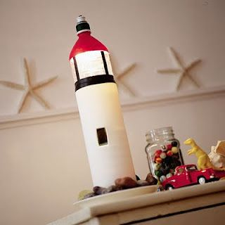 recycling crafts Lighthouse in a Bottle