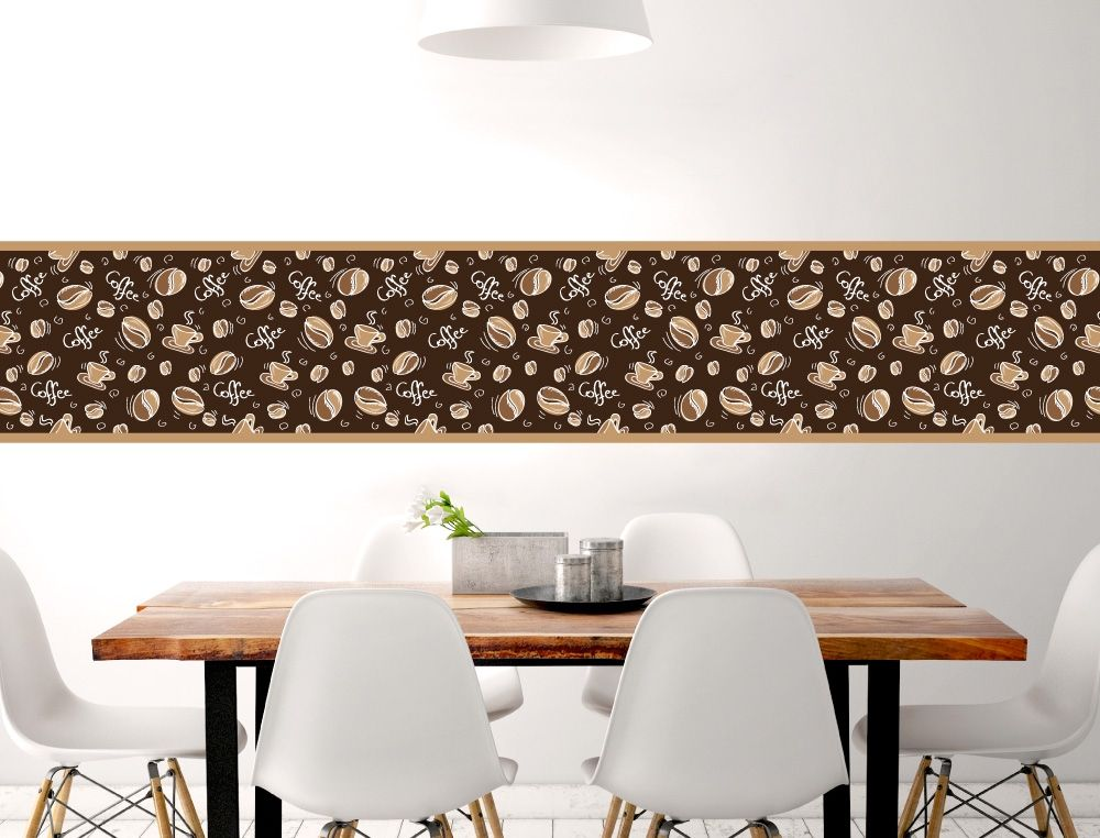 Bordüre mit Coffee Schriftzug für die Küche - I-love-Wandtattoode