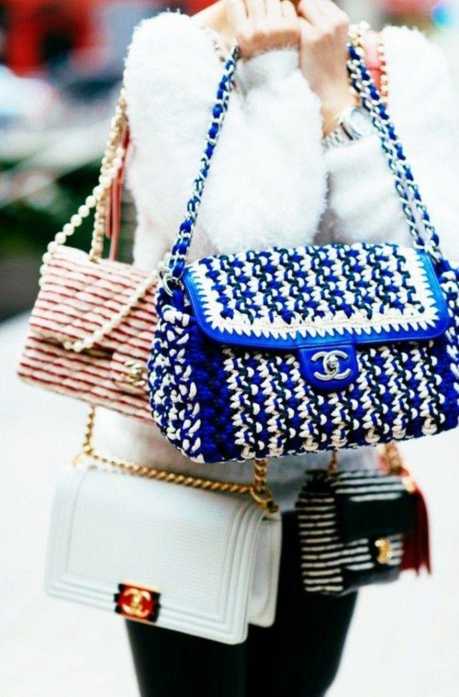 Piles of Chanel bags via Nina Garcia
