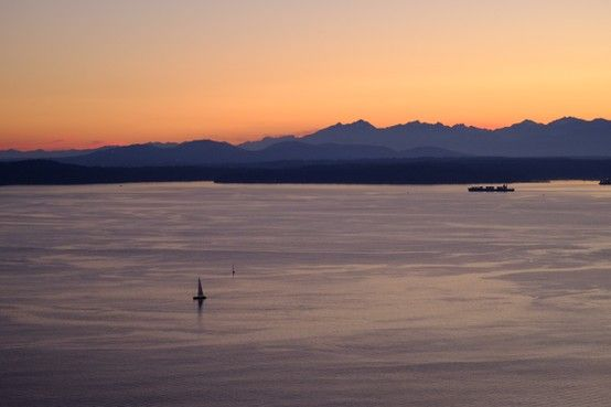View from Space Needle at dusk, Seattle, WA. (photo: Jeff Brown)