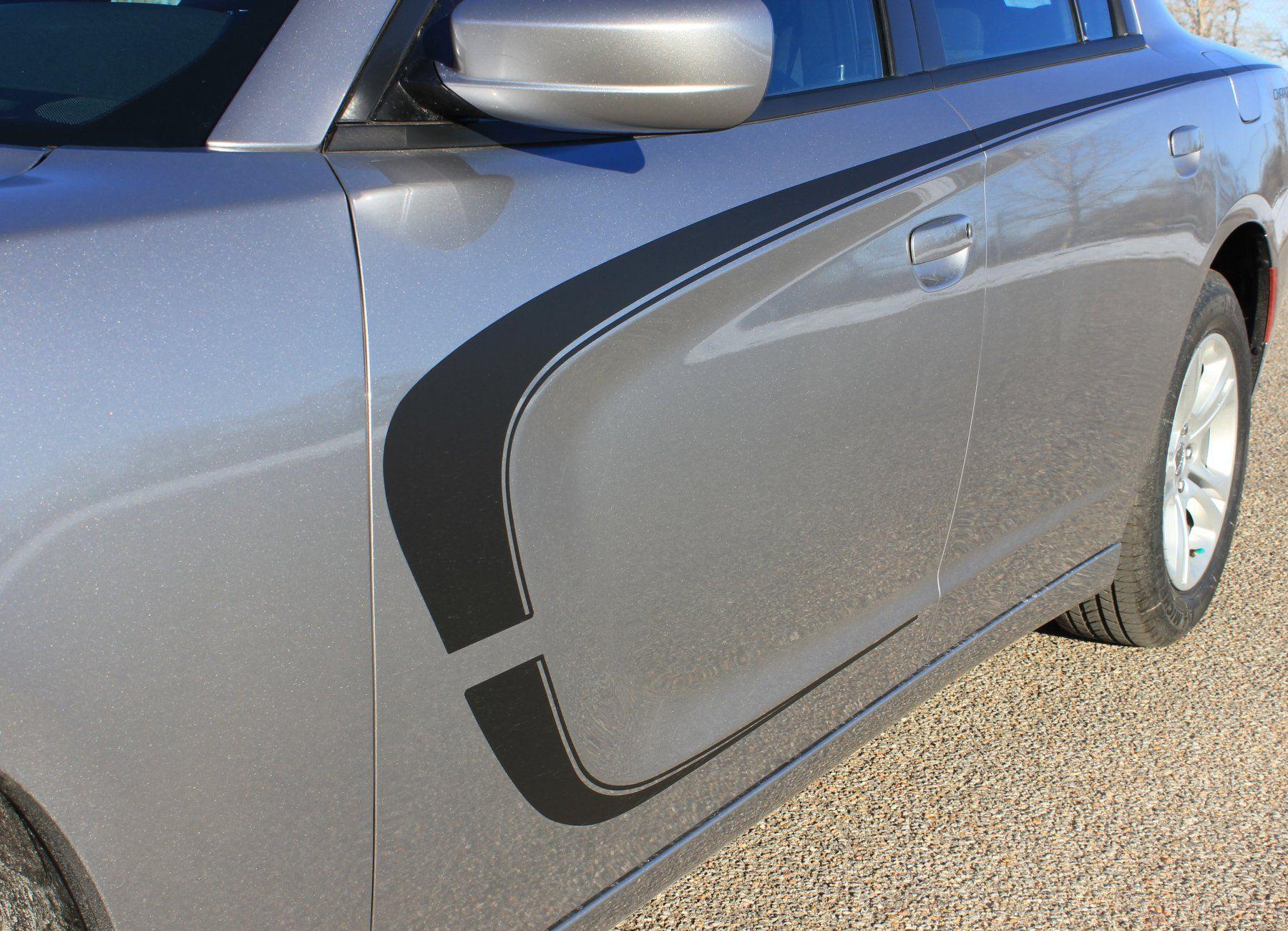 Hood Sides C-STRIPE COMBO Decals Stripes Vinyl Graphics 2015-2019 Dodge Charger