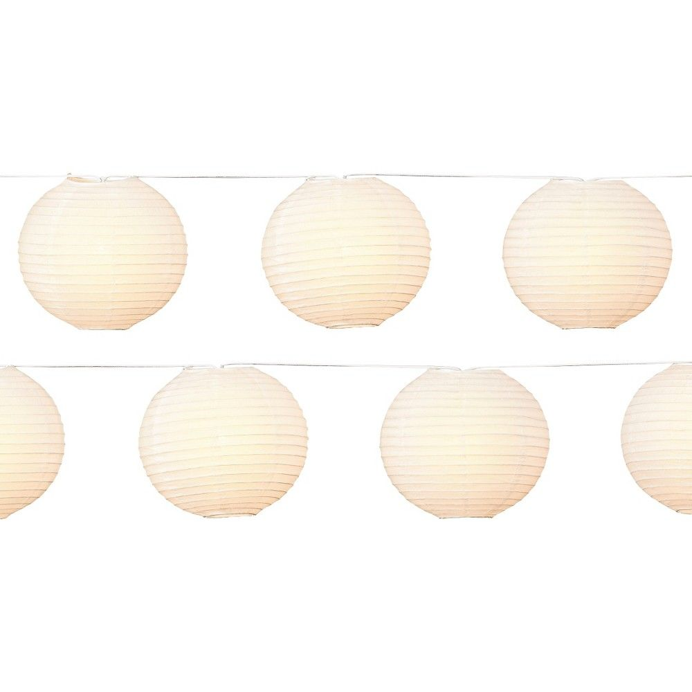 10Lt 8 Paper Lanterns-White - Room Essentials