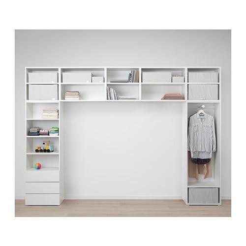 Platsa šatní Skříň Bílá Fonnes Sannidal Kids Ikea