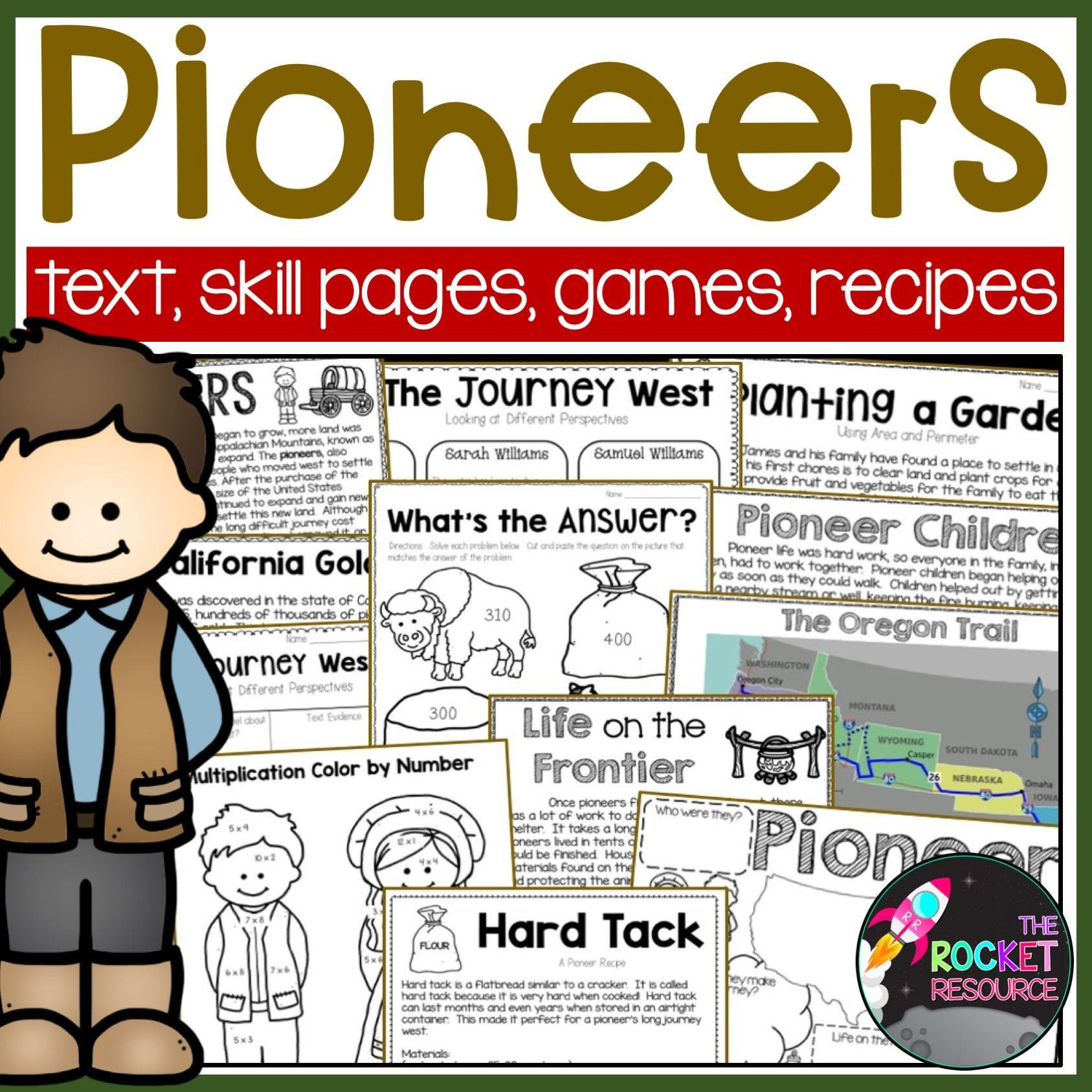 Pioneers Pioneer Themed Math And Ela Learning Activities Distance Learning Math Skills Practice Informational Reading Passages Distance Learning [ 1687 x 1687 Pixel ]
