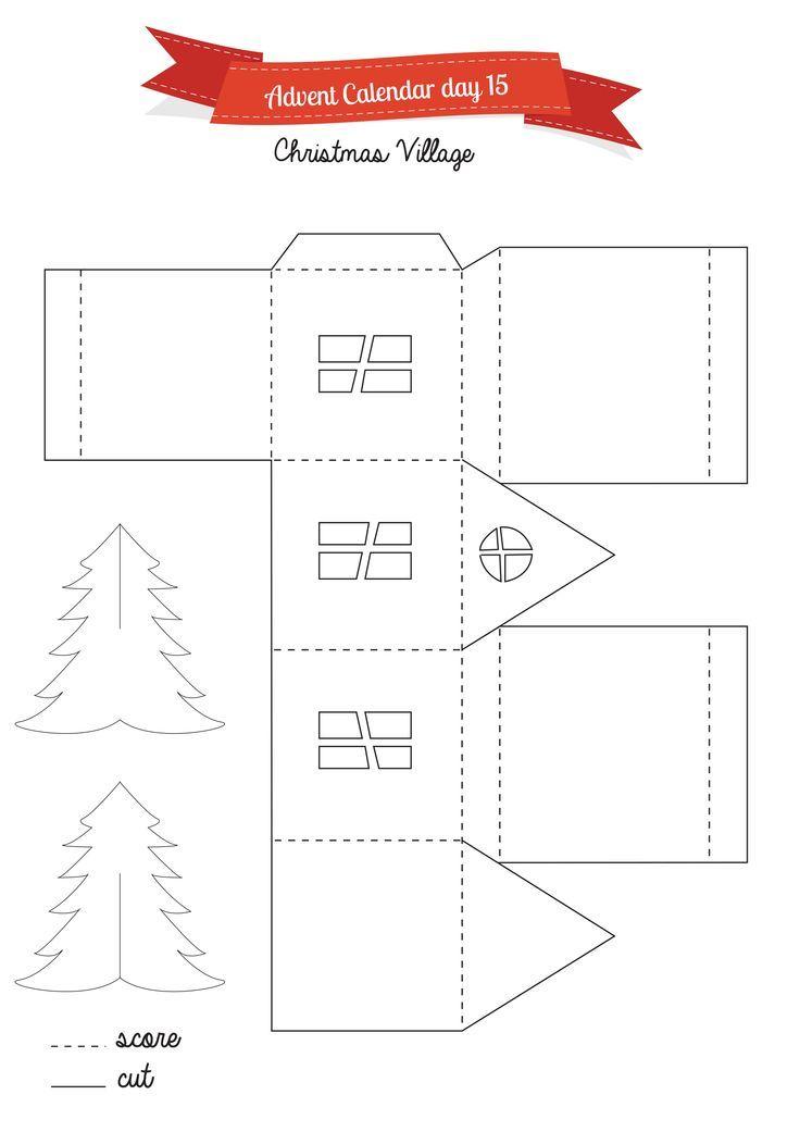 736 1041 christmas pinterest maisons de no l - Gabarit maison en carton ...
