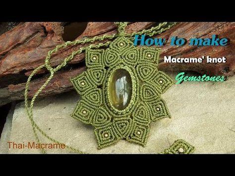 Tutorial de macrame. Brazalete bonito y facil. - YouTube