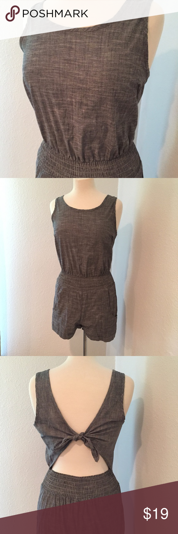 45a6297e7a13 True Religion Chambray Tie Back Romper Such a cute Romper! Dress it up with  accessories. In very good condition. True Religion Pants Jumpsuits   Rompers