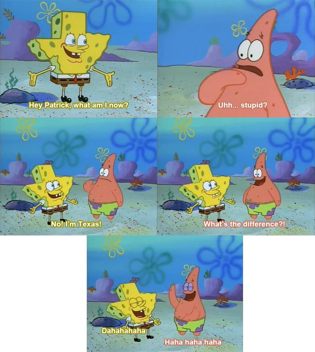 Haha what's the difference😄 Spongebob funny, Spongebob jokes