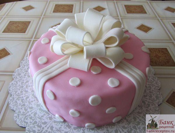 Как украсит торт в домашних условиях фото из мастики