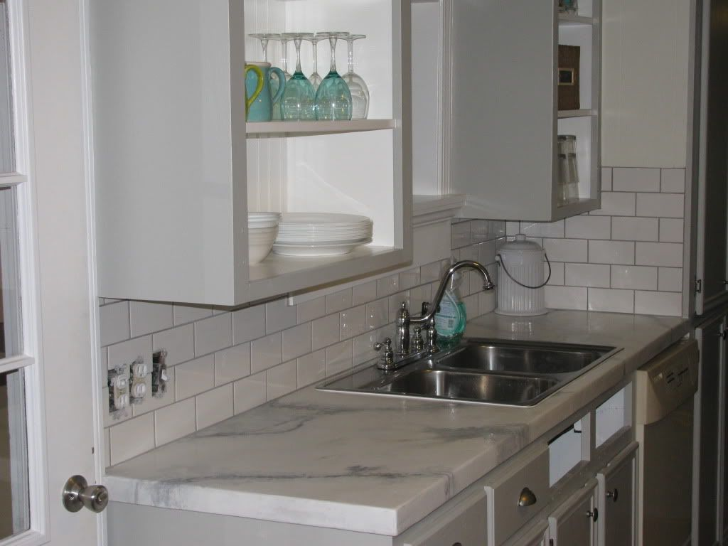 Countertop That Looks Like Marble : Concrete countertop that looks like Carrara Marble! White kitchens ...
