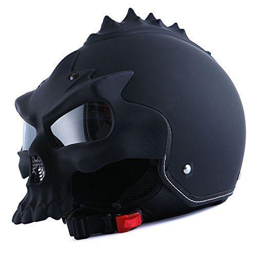1STorm Motorcycle Street Bike Scooter Open Face Helmet; 3D Skull Matt Black 1Storm http://www.amazon.com/dp/B00S2AG3S8/ref=cm_sw_r_pi_dp_iU84vb14PZNZK