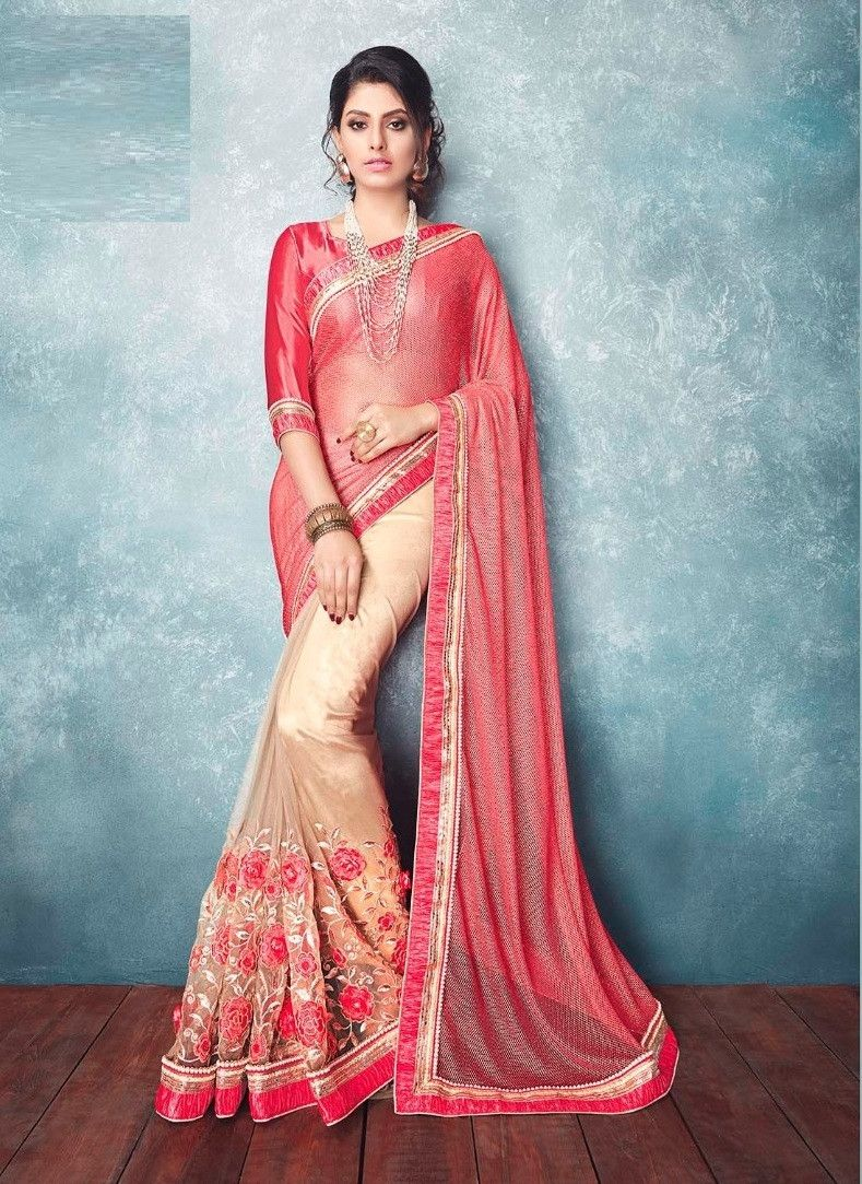 Hitansh saree 2296 | Saree, Pink beige and Indian dresses