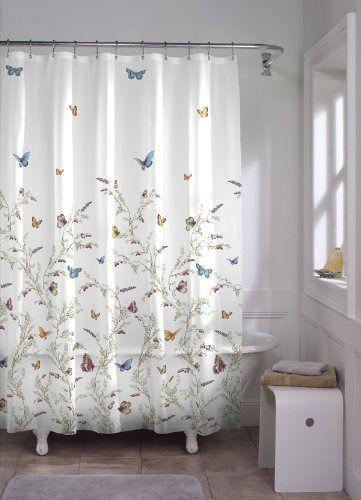 NEW! Beautiful Butterfly Garden PEVA Shower Curtain, Multi. Ships Free!