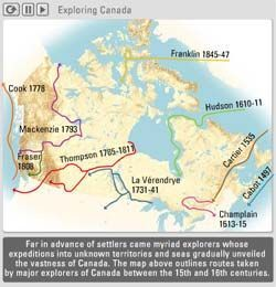 First peoples early survival and settling canada settlers to 1800 this site also includes a video map of various european explorers canadian geographic gumiabroncs Gallery