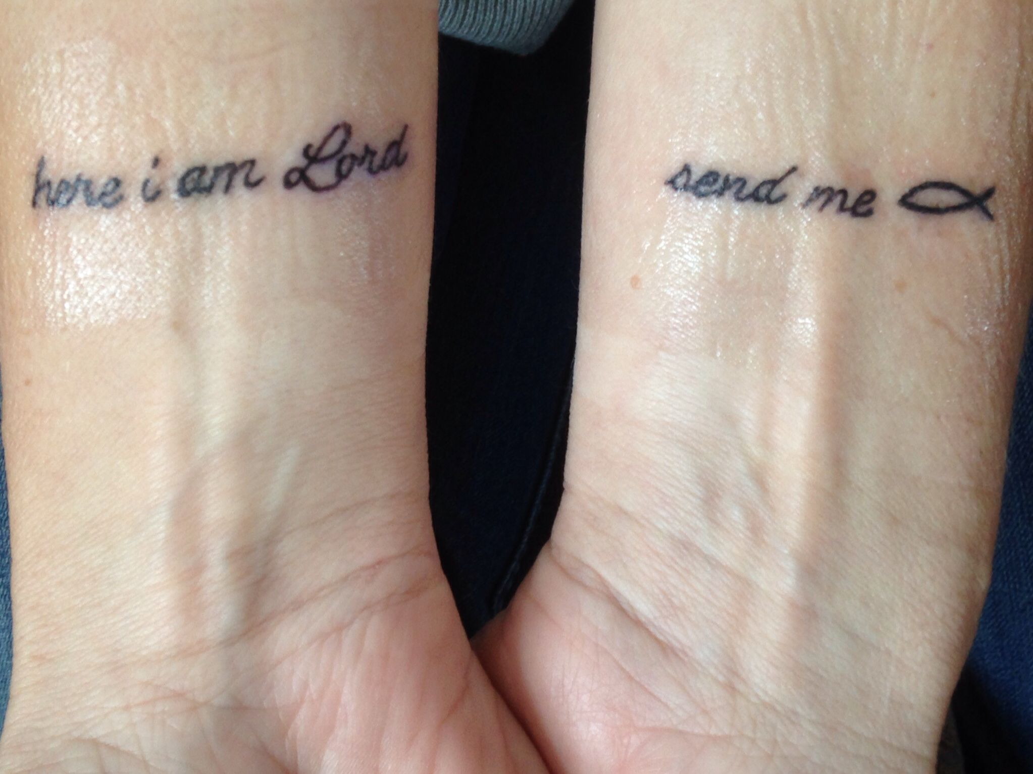 Here I am Lord      Send me Tattoo Isaiah 6:8 | Who I am | Scripture