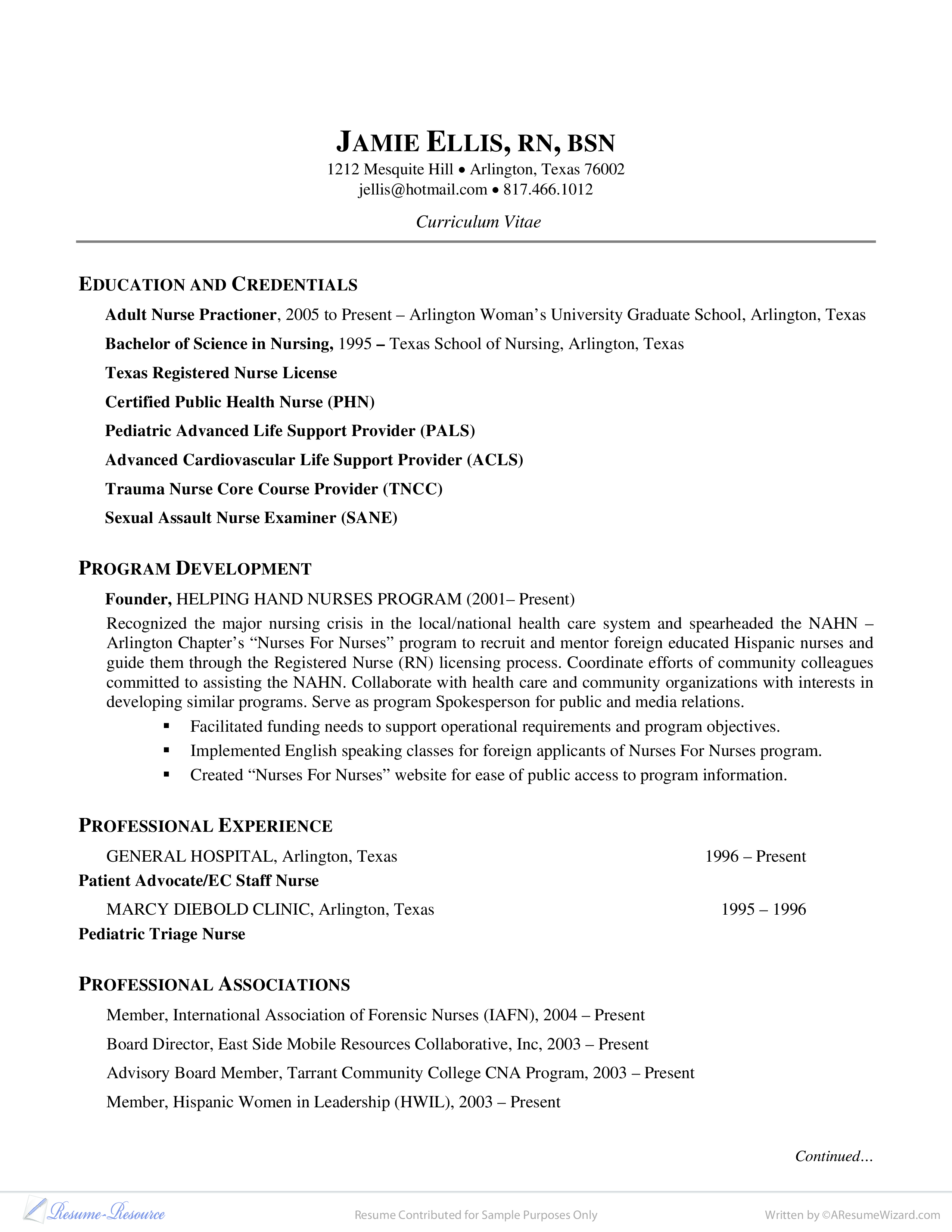 Hospital Nurse Resume - How To Create A Hospital Nurse Resume