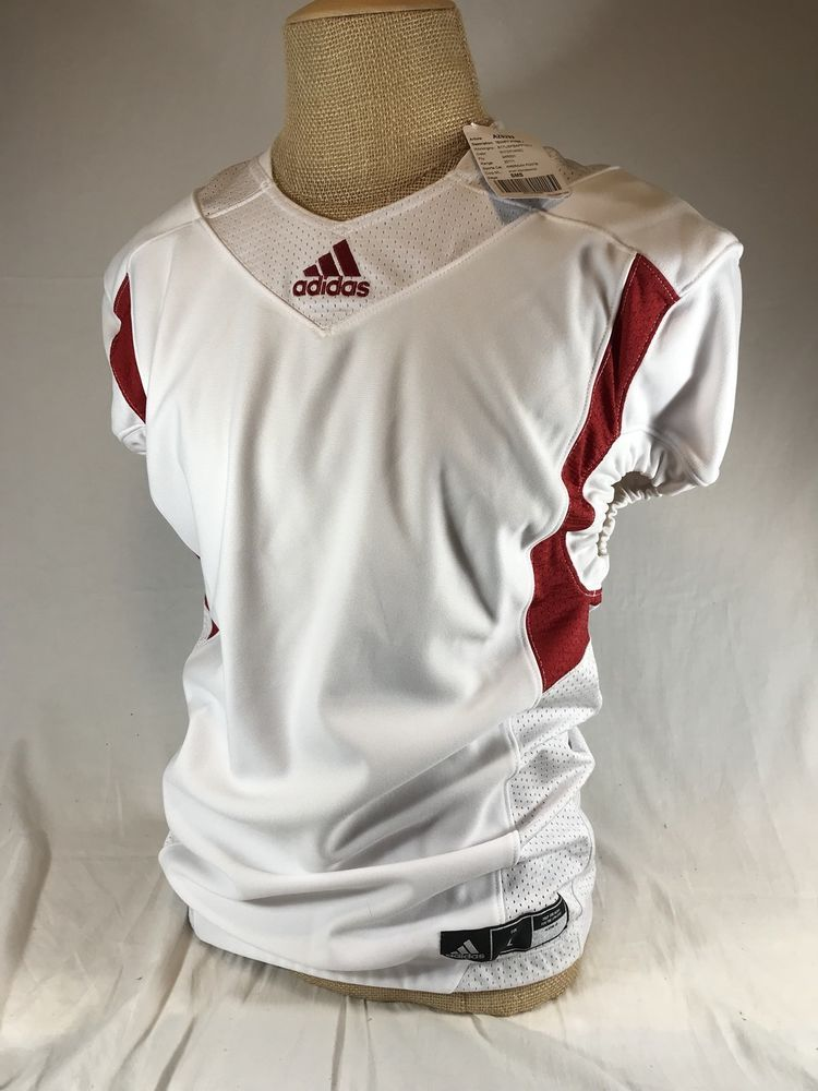 Adidas techfit football hyped jersey climalite large white