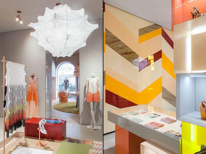 Missoni flagship store by Patricia Urquiola Milan Store design