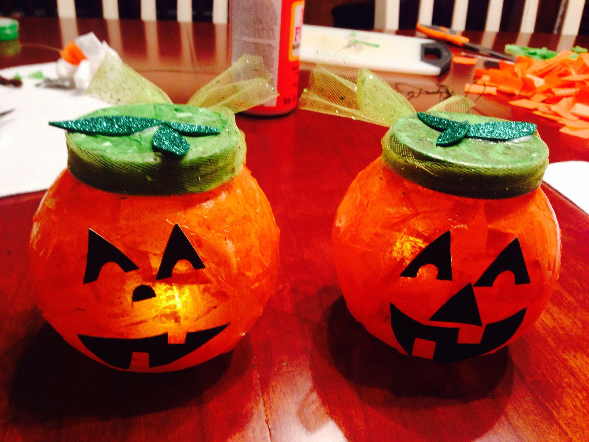 Jack O Lantern Craft For Preschool Modge Podge Tissue