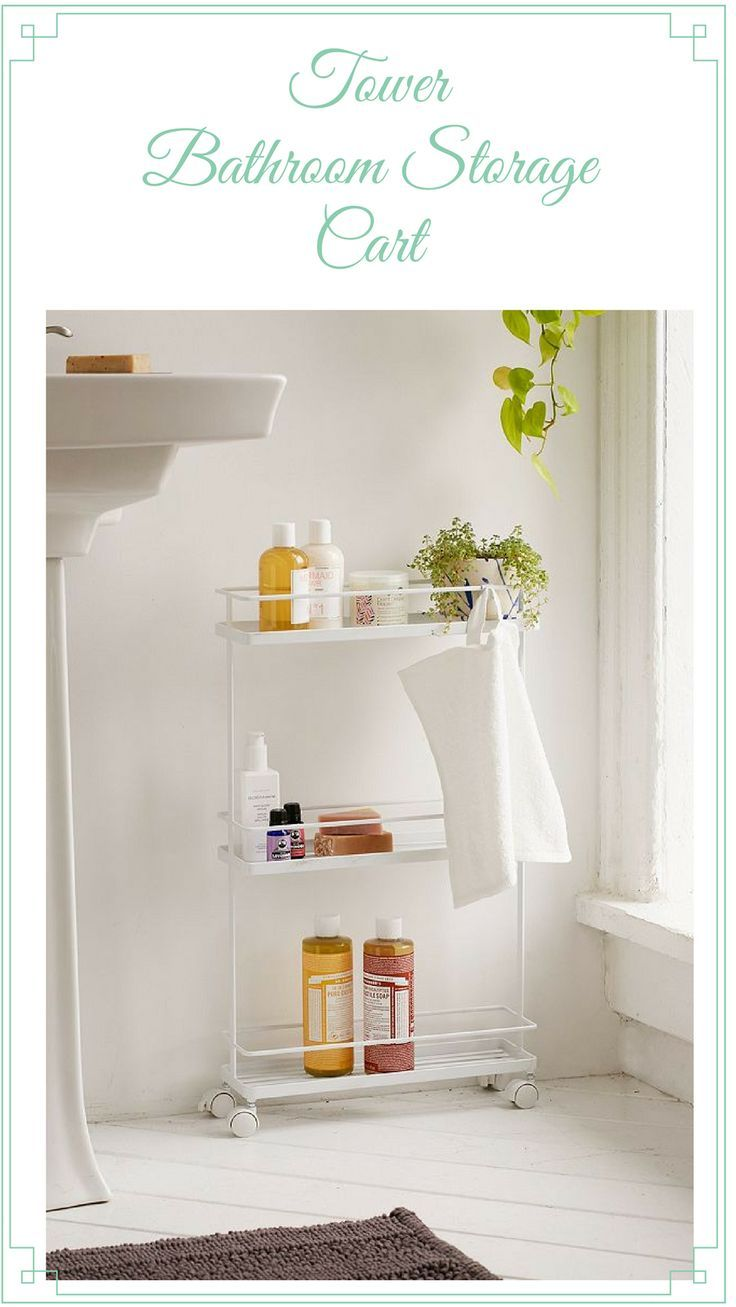 Tower Bathroom Storage Cart #ad #bathroom #sotrage | Home - Bathrooms | Pinterest | Storage cart Bathroom storage and Storage  sc 1 st  Pinterest & Tower Bathroom Storage Cart #ad #bathroom #sotrage | Home ...