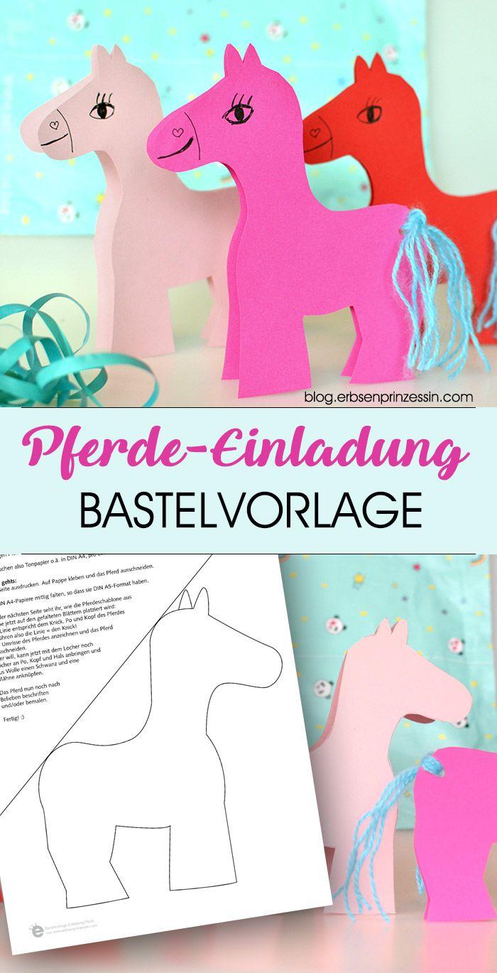 Easy Pferde Einladungskarten Für Die Kinderparty Basteln: Schnell Gemachte  Klappkarten Mit Pony Für Eure