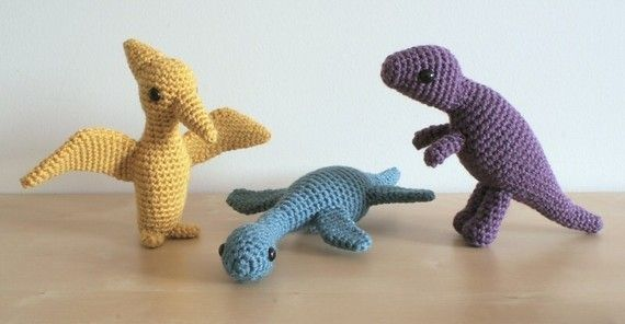 Pdf Dinosaurs Set 2 Three Amigurumi Crochet Patterns Plesiosaurus