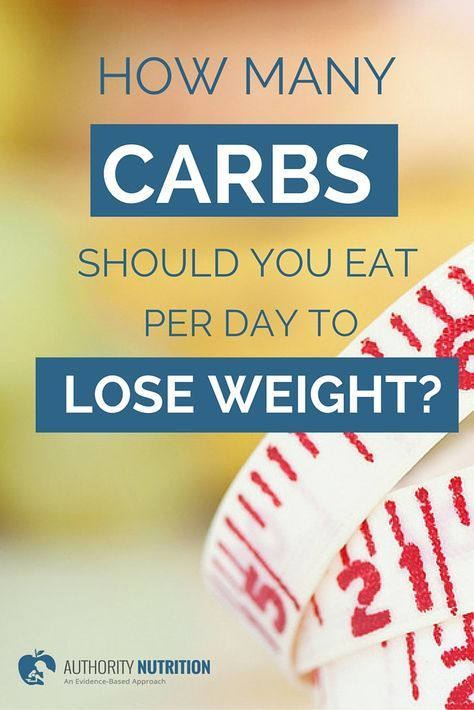 how many carbs a day to lose weight