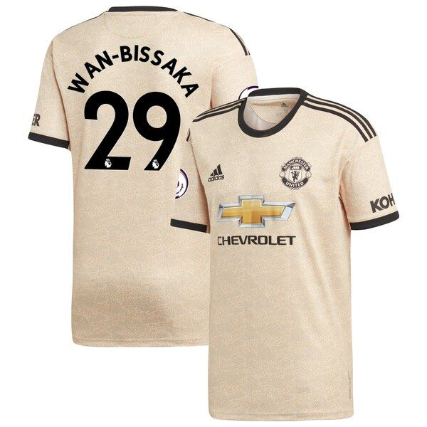 Aaron Wan-Bissaka Manchester United adidas Youth 2019/20 Away Replica Player Jersey - Tan #ManchesterUnited Whenever Manchester United is on the field your young fan is tuned in. Be sure your kiddo is outfitted properly by grabbing him this Aaron Wan-Bissaka 2019/20 Away Replica Player Jersey! It's exciting being a devout Manchester United fan and your youngster will be the biggest one around in this adidas jersey featuring crisp team graphics and climalite technology that will keep him cool