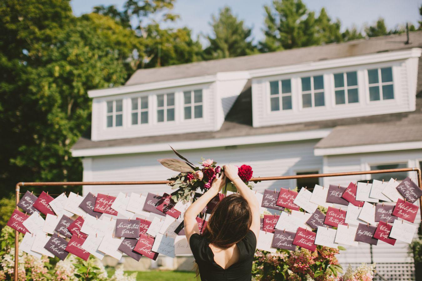 Elegant Autumn Barn Wedding in Maine   Barn wedding venue ...