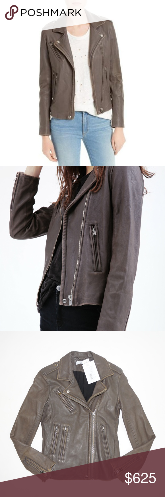 Iro Brown Han Moto Leather Jacket Leather Jacket Leather Moto Jacket Jackets [ 1740 x 580 Pixel ]