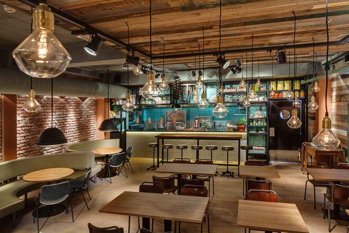 I'm convinced that the Dutch execute or exile bad designers...the graphics, the interiors, are so inspirational. Stan & Co restaurant by De Horeca Fabriek Utrecht Netherlands