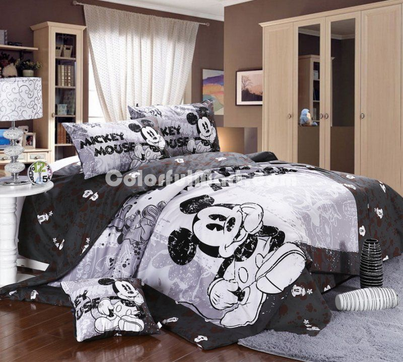 Pin By Kayla Hoffman On My Disney Obsession Mickey Mouse Bedroom Mickey Mouse Bedding Disney Room Decor