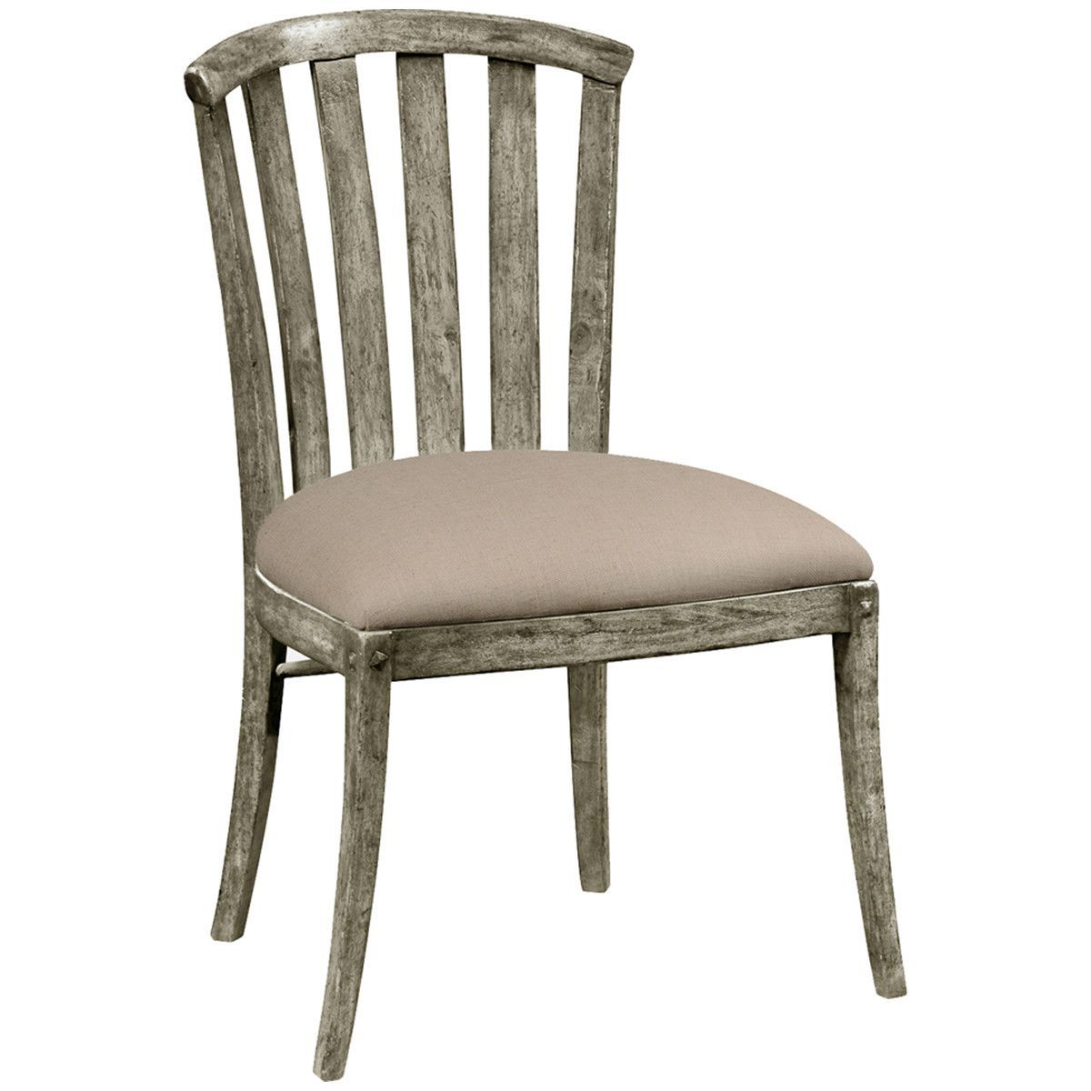 Jonathan Charles Rustic Grey Style Curved Back Chair