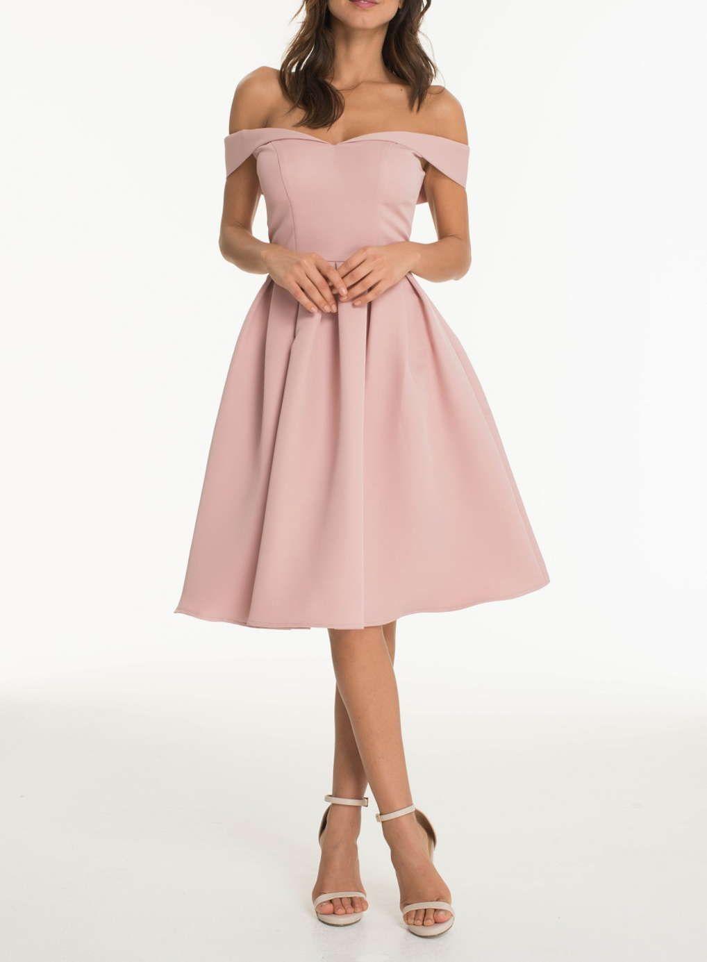 Chi Chi London Fold over bardot midi dress   prom   Pinterest ...