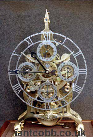 A Perpetual Calendar Skeleton Cl Antique Clocks Clock Shop Skeleton Clock