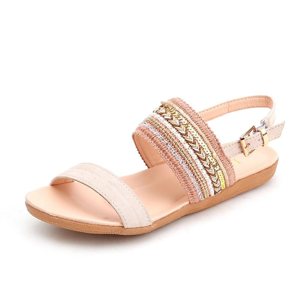 95a41a85a Women Bohemia Slippers Flip Flops Flat Sandals Toe Beach Gladiator Ankle  Shoes   Features  1.High quality material