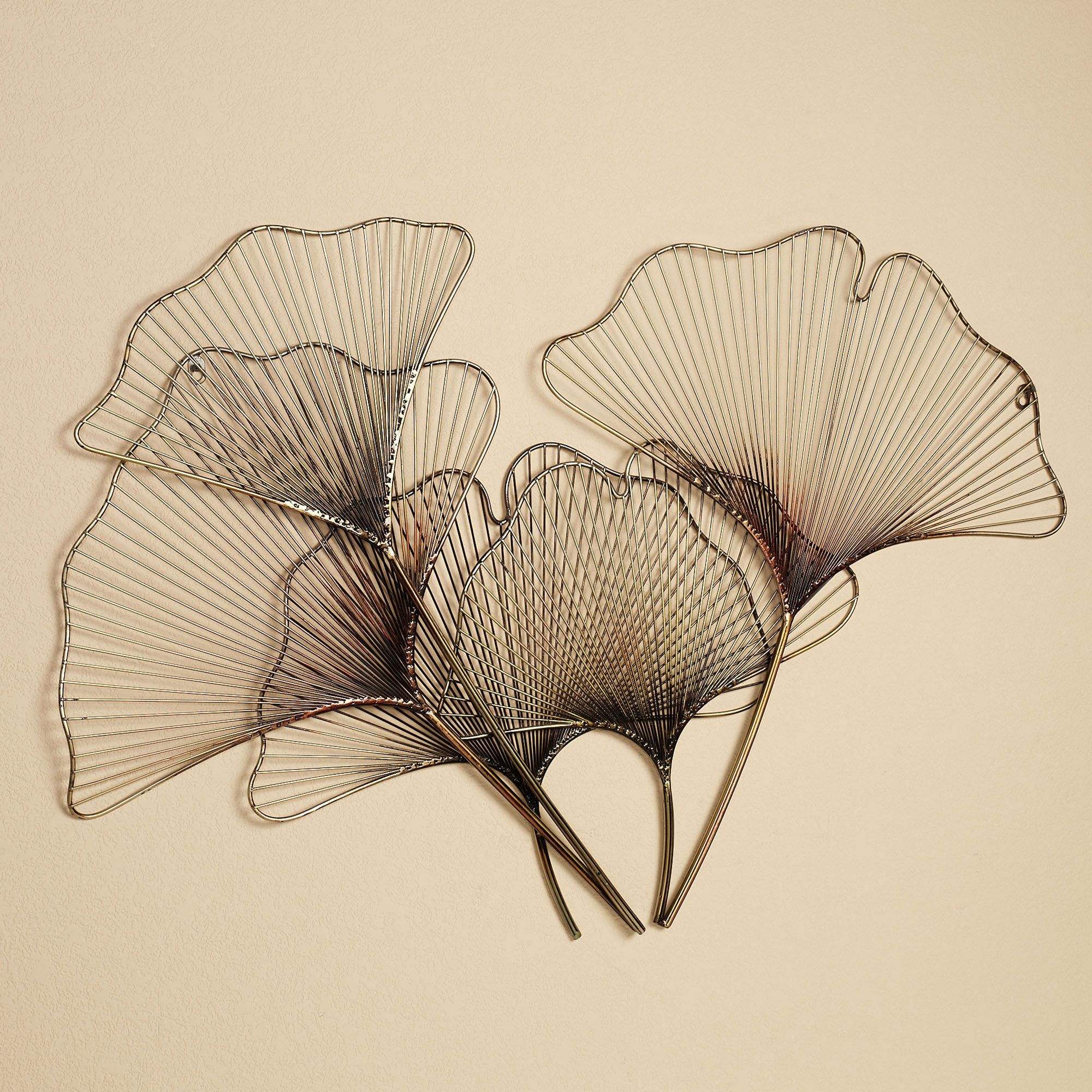 Ginkgo Breeze Metal Wall Sculpture