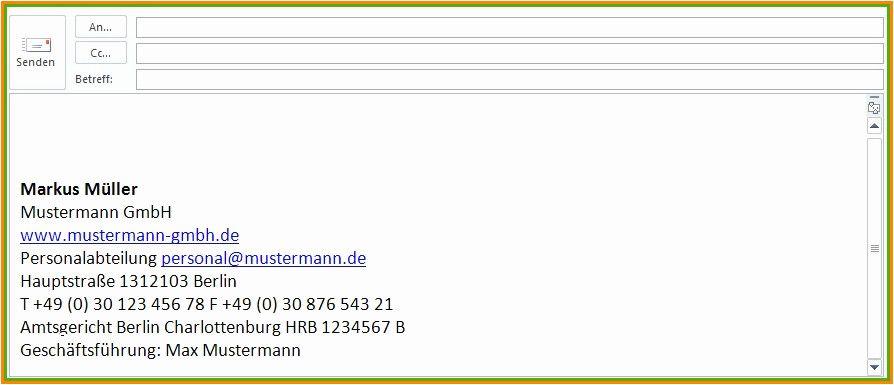 Lovable E Mail Signatur Vorlage Geschaftlich Offizieller Brief Vorlagen Personalabteilung