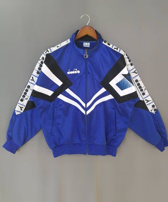 Vintage 90s Diadora trainer jacket size M ll OG sergio
