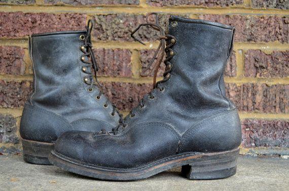 Vintage Black Leather 60\u0026#39;s Sears