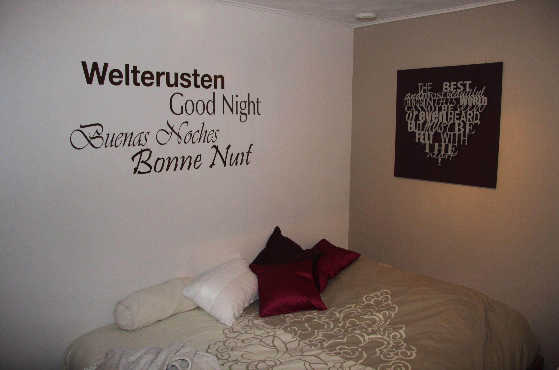 mooie slaapkamer tekst