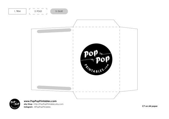 easy printable c7 envelope download printable envelope template