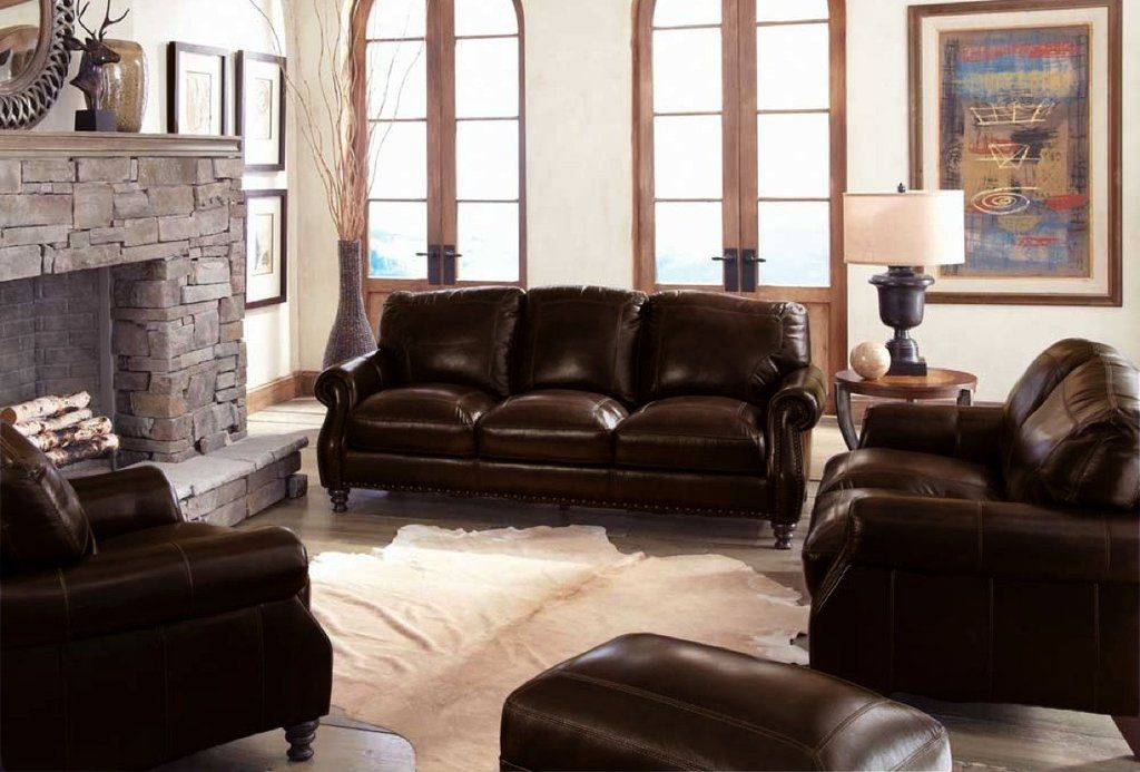 Stampede Coffee Brown Leather Sofa And Loveseat By Simon Li My