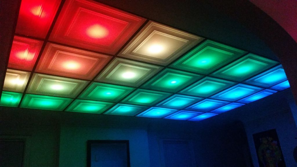 How To Turn Your Room Into A Nightclub With A DIY, LED Ceiling | Diy ...