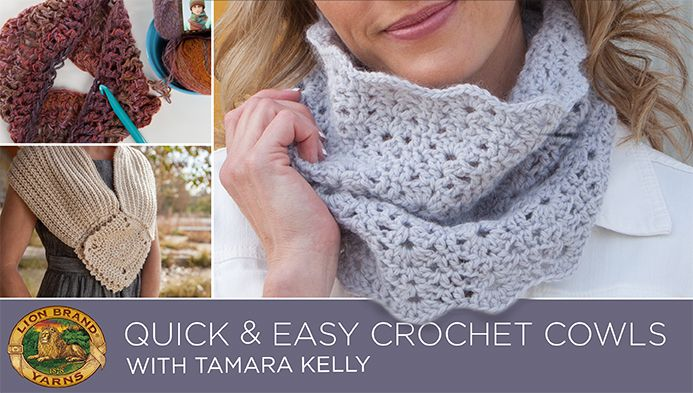Quick and Easy Crochet Cowls with Lion Brand | Bufandas infinito ...